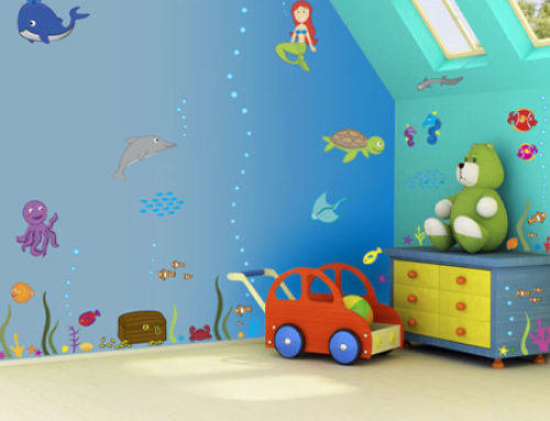 چند مدل جالب از کاغذ دیواری اتاق کودکان