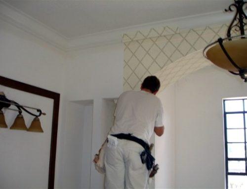امادگی دیوار برای نصب کاغذ دیواری