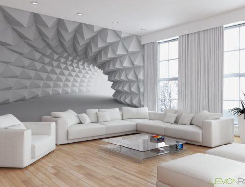 ایده هایی برای کاغذ دیواری مخصوص اتاق نشیمن