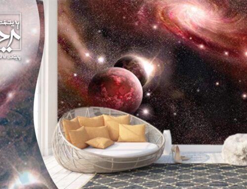 پوستر و کاغذ دیواری کهکشان و سیاره ها