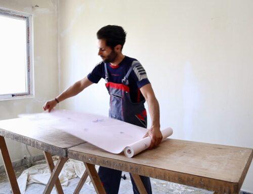 میزکار کاغذ دیواری | فروش میزکار نصب چوبی و آلومینیومی