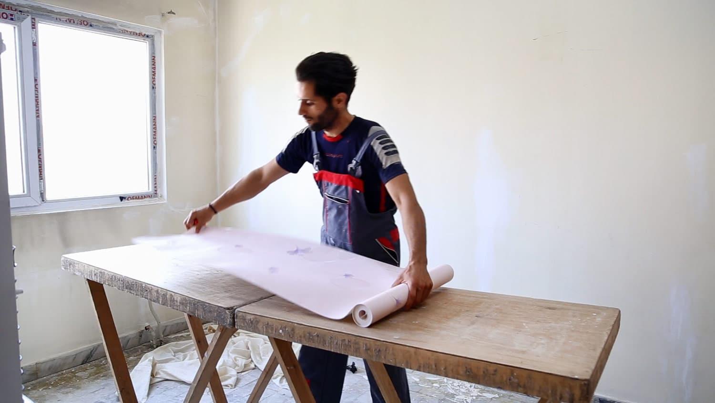 میزکار کاغذ دیواری ، فروش میزکار نصب کاغذ دیواری چوبی و آلومینیومی