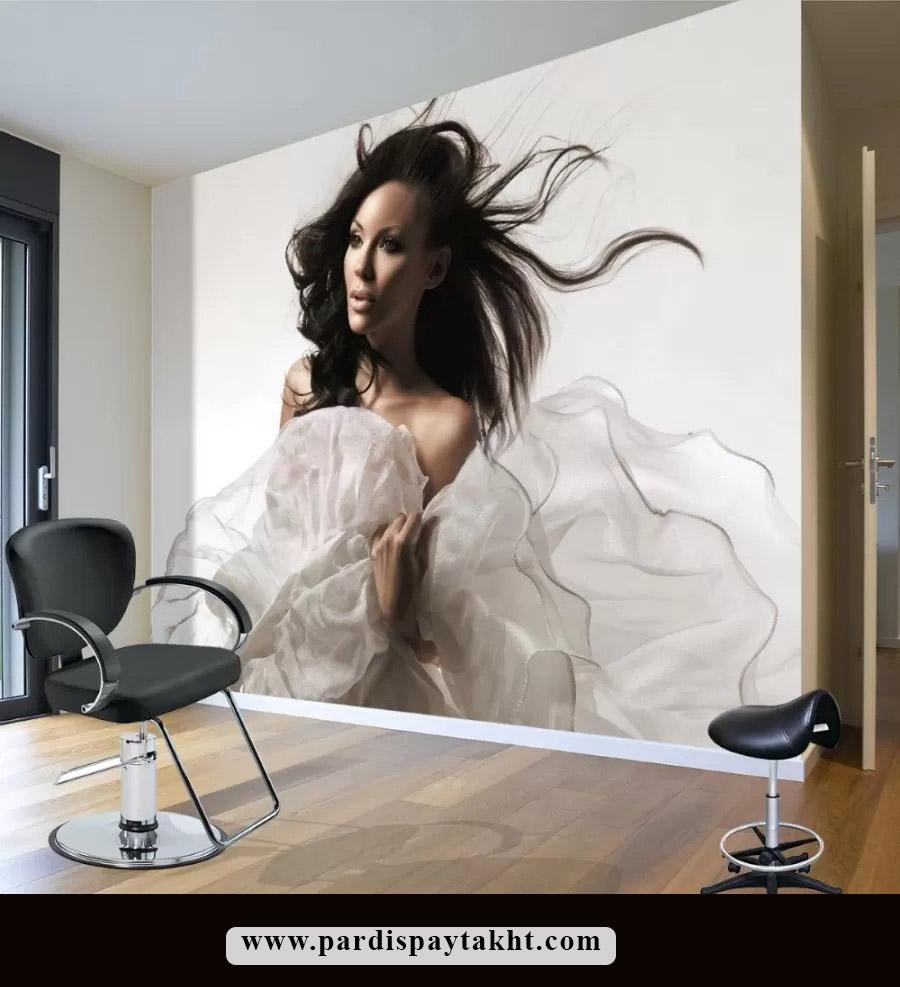 کاغذ دیواری و پوستر دیواری مدرن برای سالن زیبایی و آرایشگاه
